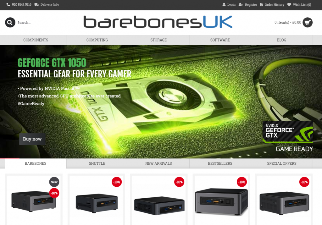 barebonesuk website screenshot