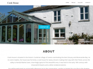 cook house website screenshot