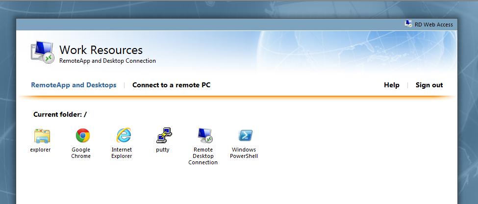 Customising the RDWeb web page - Cloudrun