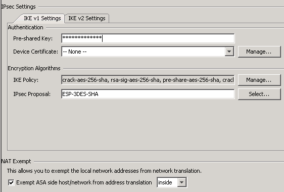 Configuring Site to Site VPN from Cisco ASA to a Draytek
