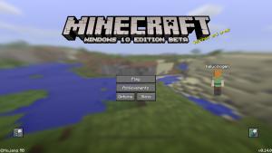 minecraft title screen windows 10