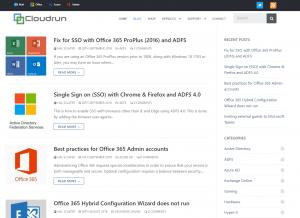 cloudrun website blog screenshot