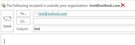Enabling the External Recipient Mailtip in Office 365 - Cloudrun