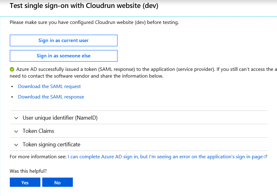 Azure AD my apps secure sign-in extension